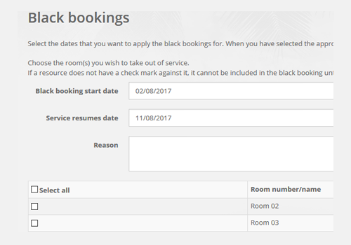 Black Bookings
