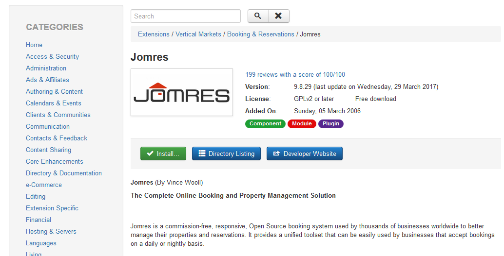 Installation into joomla install from web jomres user manual joomla install from web2 publicscrutiny Gallery