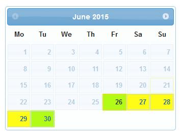 Jquery Calendar Asamodule