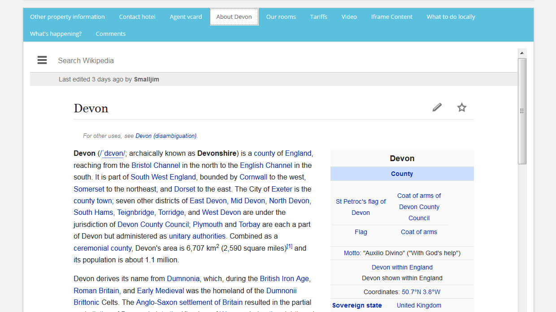Wikipedia Region In Tab